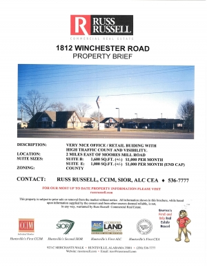 1812 Winchester Road SUITE B AND SUITE E